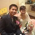 結婚當天賢伉儷首次合照