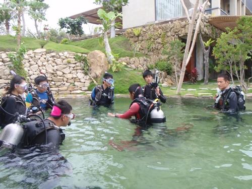 這週剛好有五位學員在上Open Water課程