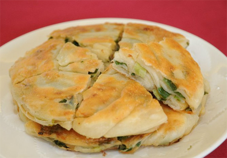 胡天蘭介紹蘇杭蔥油餅