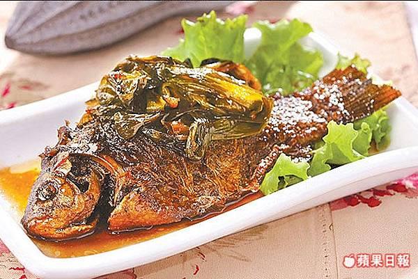 20090413蘋果報導-蔥烤鯽魚