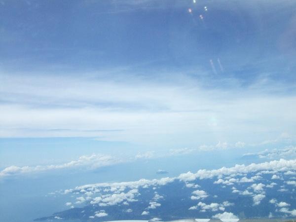 飛機上拍窗外