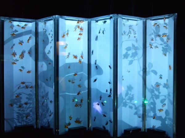 很有日本風的水箱布景