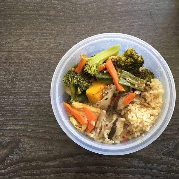 oct2018/ 南瓜糙米飯.花椰菜.秋葵