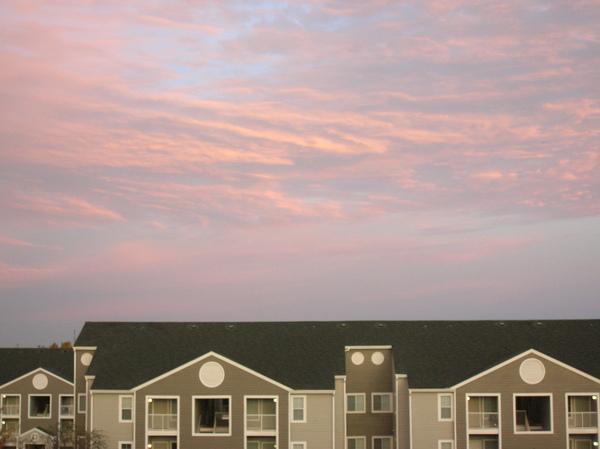 星期三早上看到的紫色天空