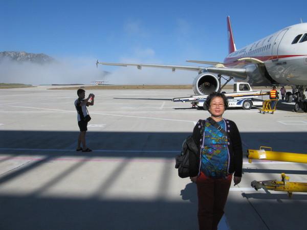 3000多公尺的九黃機場 地面只有五度