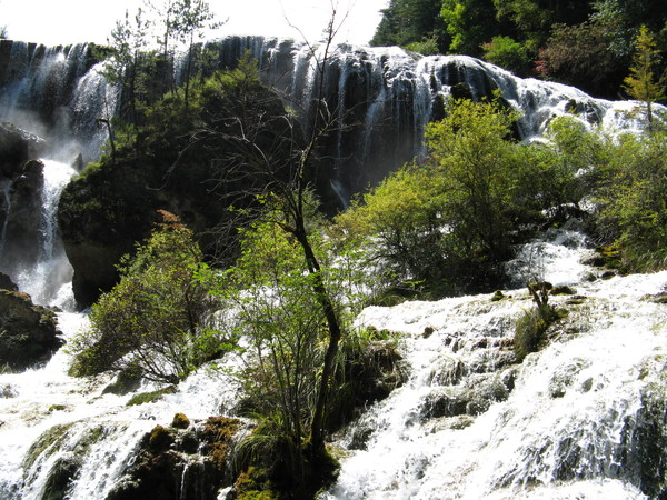 怎麼照都無法把整個瀑布容下 太壯觀了
