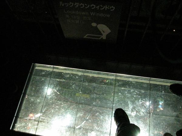 這是用透明的玻璃要你look down,晚上去真的很無聊,都不恐怖
