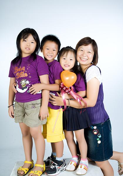 紫色親子裝