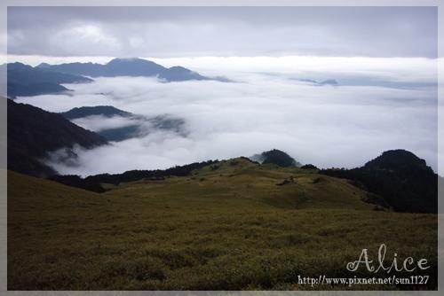 南華山路上的雲海
