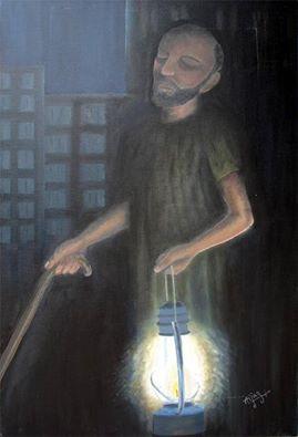 盲人打燈籠