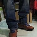 Timberland休閒鞋開箱 GT Scramble Mid Light Brown Leather 27117-20.JPG