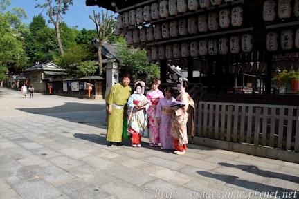 遊客與京都藝妓