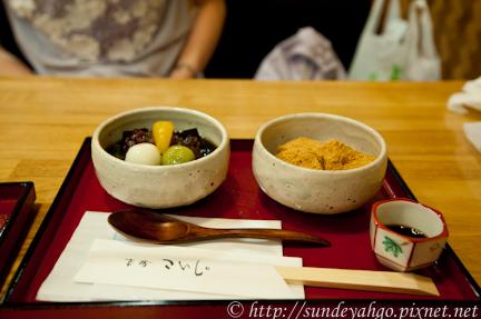 祇園小石蕨餅與葛冰