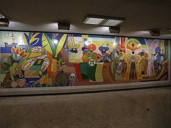地鐵站的瓷磚壁畫