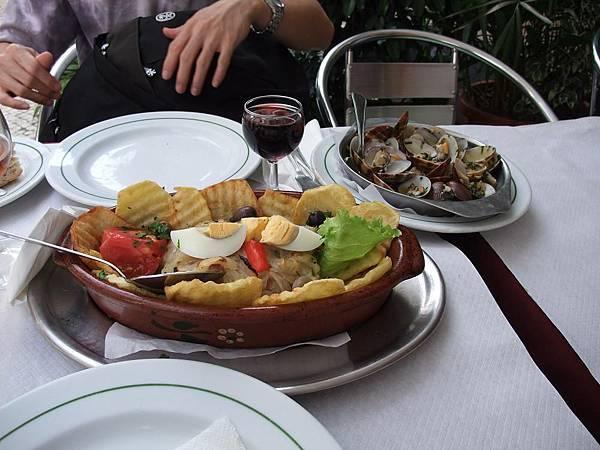 炸鱈魚與葡萄牙蛤蠣