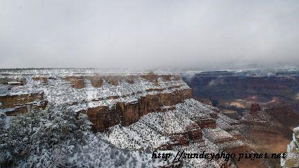 冬季的大峽谷