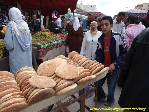麵包與水果攤