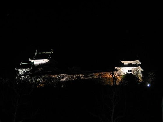 黑夜中的和歌山城