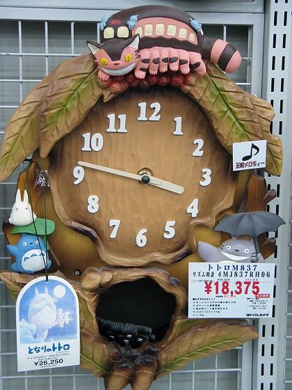 Totoro 的木雕時鐘