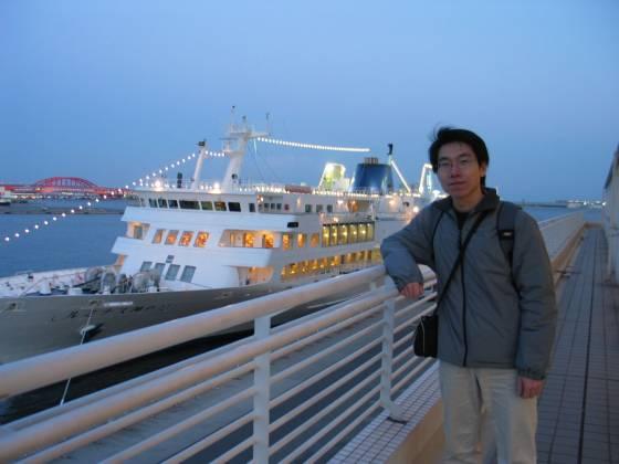 晚上所要搭乘的遊船