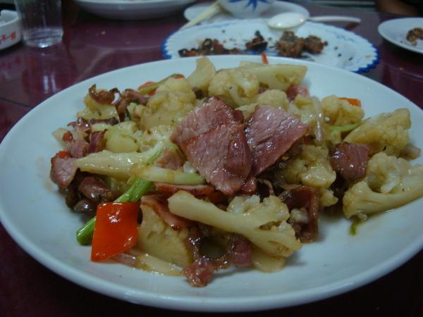 西藍花炒臘肉.JPG