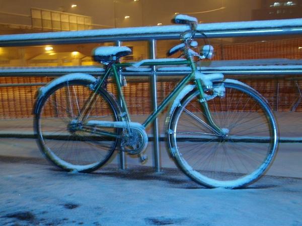 大雪下的腳踏車