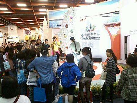 2013.10.21台北國際旅展台灣管-沙雕現場即興創作