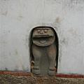 瓊林蔡家宗祠後牆的風獅爺