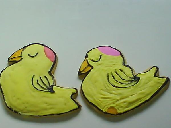 彩繪餅乾小鴨