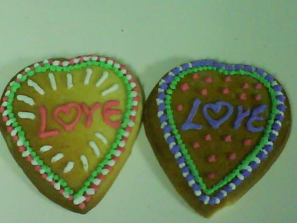 彩繪餅乾愛心