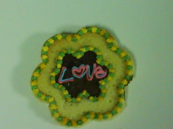 彩繪餅乾雙色花朵