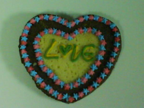 彩繪餅乾雙色愛心