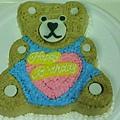 10吋泰迪熊卡通蛋糕