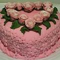 8吋糖花玫瑰蛋糕1