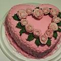 8吋糖花玫瑰蛋糕2