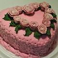 8吋糖花玫瑰蛋糕3
