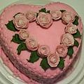 8吋糖花玫瑰蛋糕4