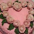 8吋糖花玫瑰蛋糕5