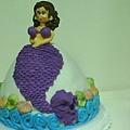 美人魚9吋3層蛋糕