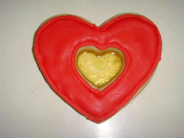 奶酥愛心型玻璃彩繪餅乾