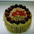 法式栗子蛋糕1