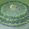 16吋紫玫瑰花鮮奶蛋糕