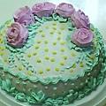 8吋粉紫玫瑰花蛋糕