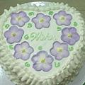 8吋心型刺繡蛋糕