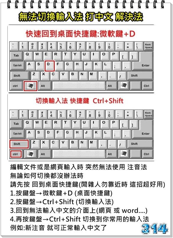 無法使用輸入法打中文解決法