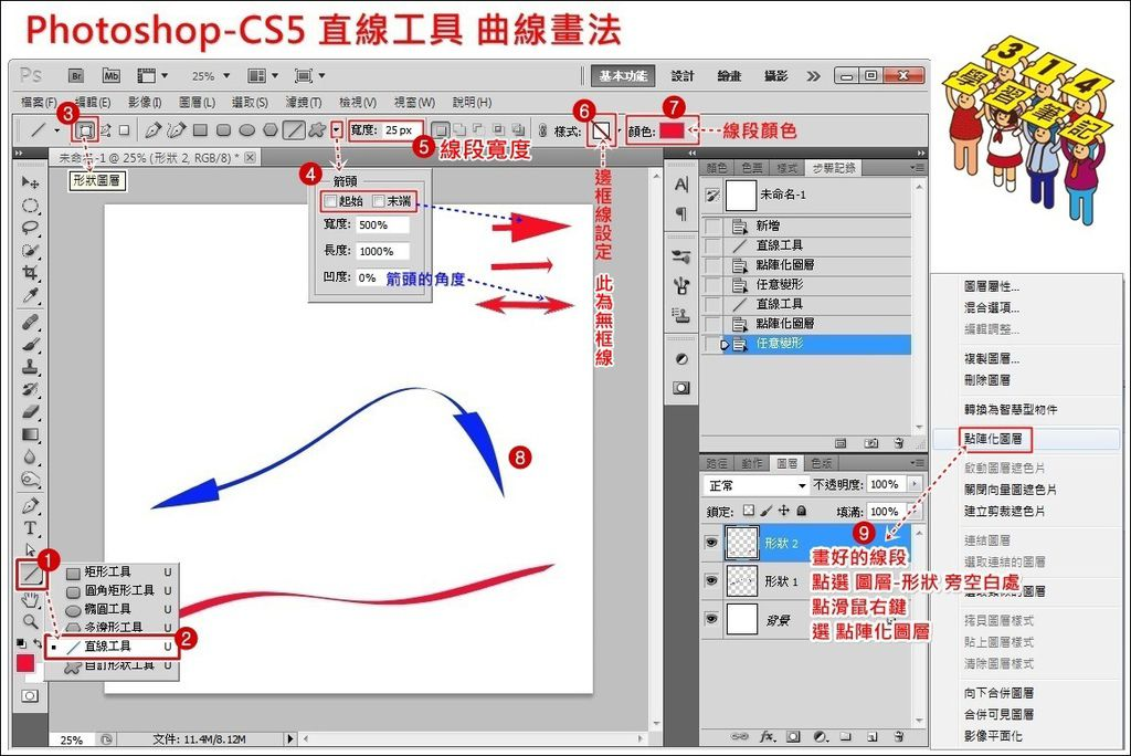 PS-CS5 直線曲線畫法1.jpg