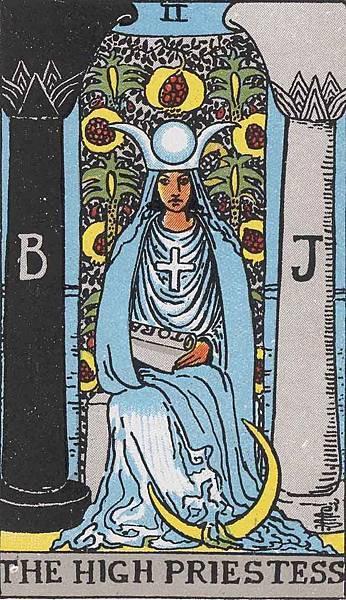 塔羅牌女祭司02