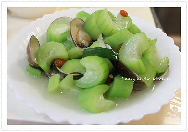 絲瓜炒蛤蜊-2