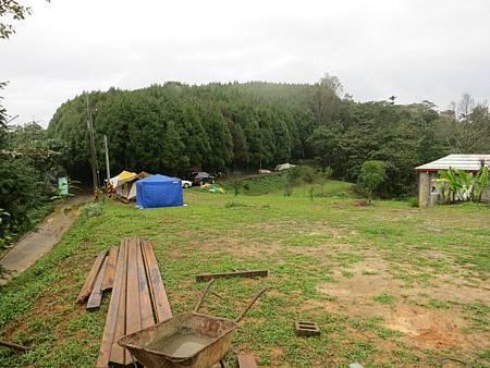 草種植的不夠茂密,下雨天不太適合露營