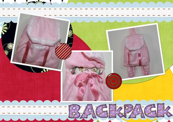 粉紅手工小背包